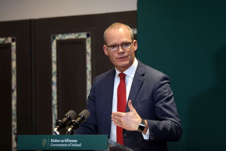 Simon Coveney took part in a frantic round of phone calls with the European Commission and the British government on Friday night. Picture: RollingNews