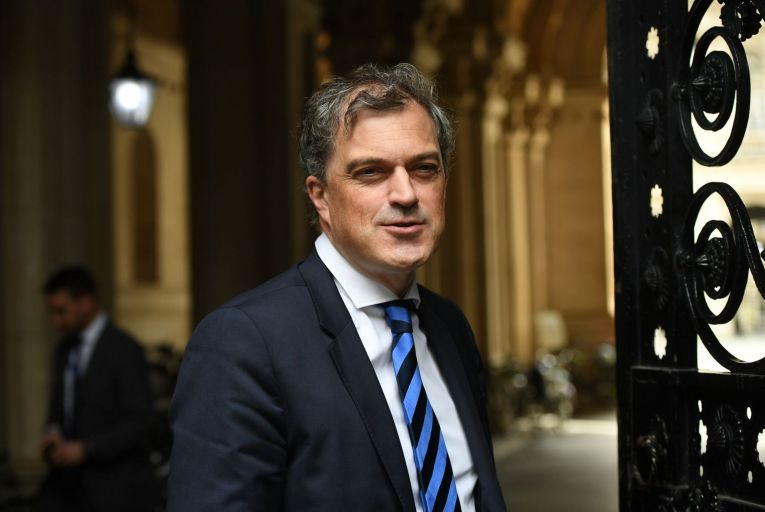 British Northern Secretary Julian Smith leaves 10 Downing Street after a cabinet meeting. Picture: PA