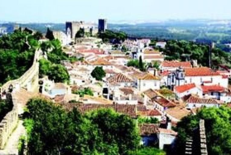 The beautifully preserved walled town of Óbidos getty