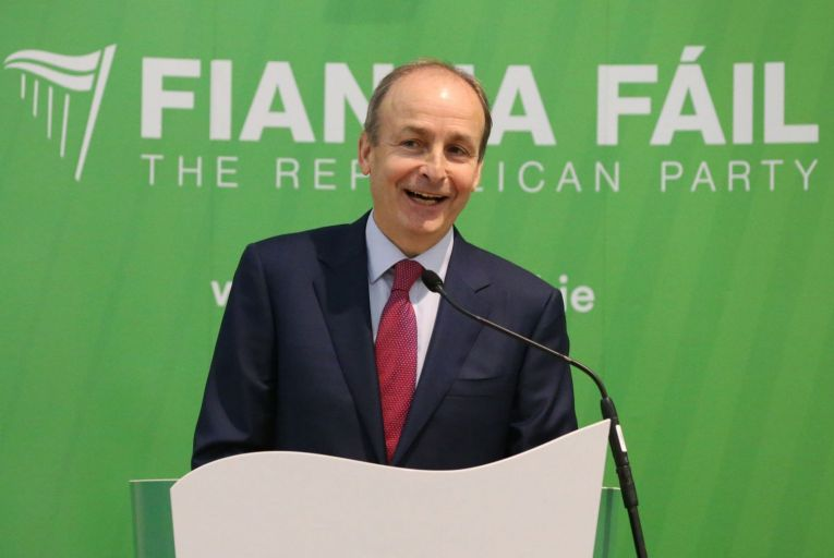 The Fianna Fáil party, on his tenth anniversary as leader, is the standout performer in this latest Red C poll with a four-point rise to 16 per cent