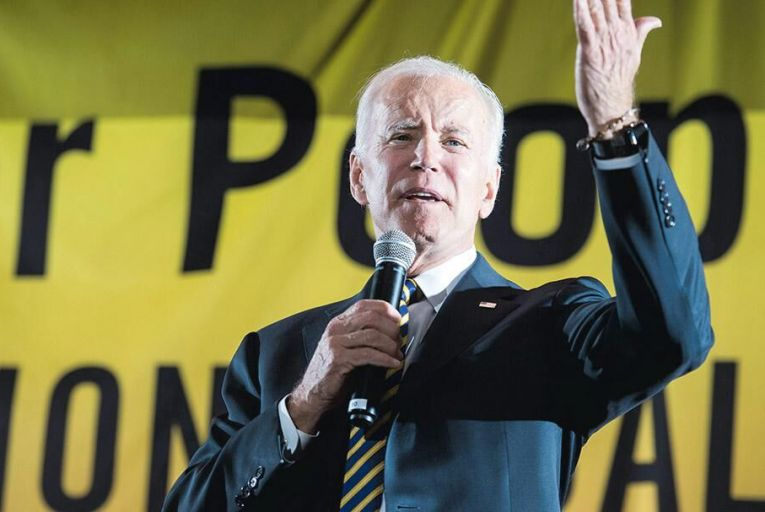 Joe Biden on the campaign trail in Washington DC earlier this month Pic: Getty