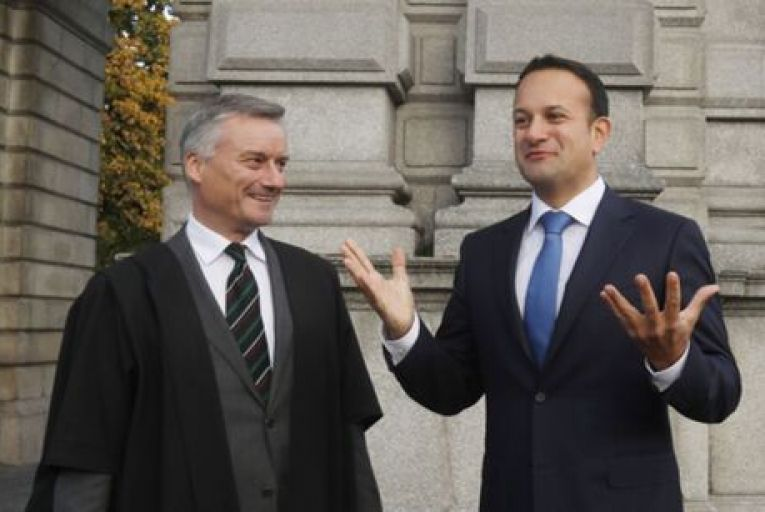Patrick Prendergast, provost of Trinity College Dublin, with then Taoiseach Leo Varadkar at the 425th anniversary of the university in 2017. Picture: Leah Farrell/RollingNews