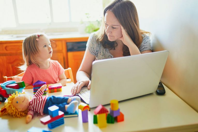 'The reality is that school and childcare closures saw women take more responsibility for childminding. That stepping up at home often came at the cost of stepping back at work.' Picture: Getty