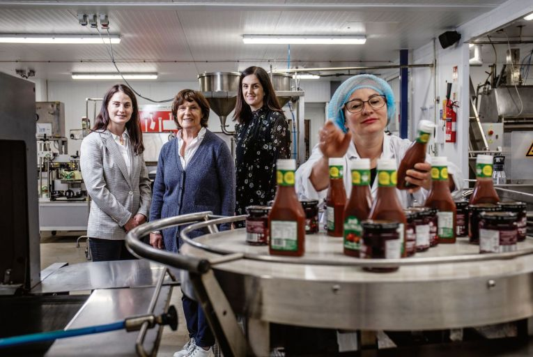 Yasmin Hyde and her daughters, Rose Callaghan and Maxine Hyde: the Hyde Family at Ballymaloe Foods in Cork celebrates 30 years in business this month Picture: Clare Keogh