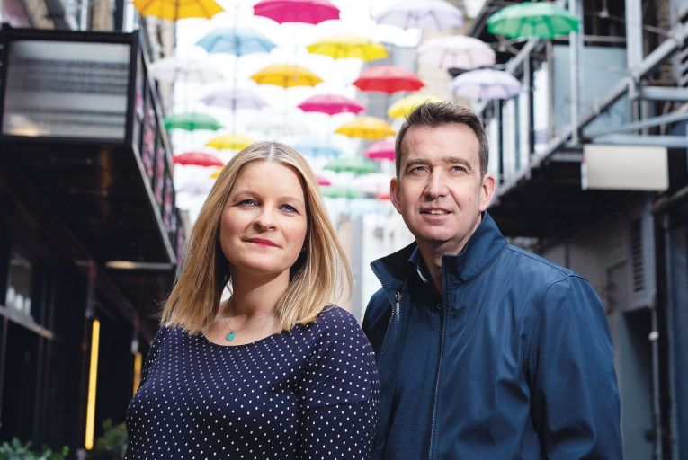Áine Kerr and Mark Little, founders of Kinzen, which uses artificial intelligence to tackle online disinformation. Picture: Fergal Phillips