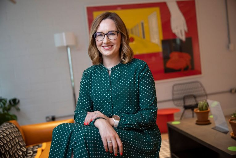 Eve Finn, chief executive of LGIM Europe: 'People should be bold as much as they can. They should be willing to go a little bit outside their comfort zone, whether that's attending an event they might not usually go to, or striking up a conversation with someone unexpected'.