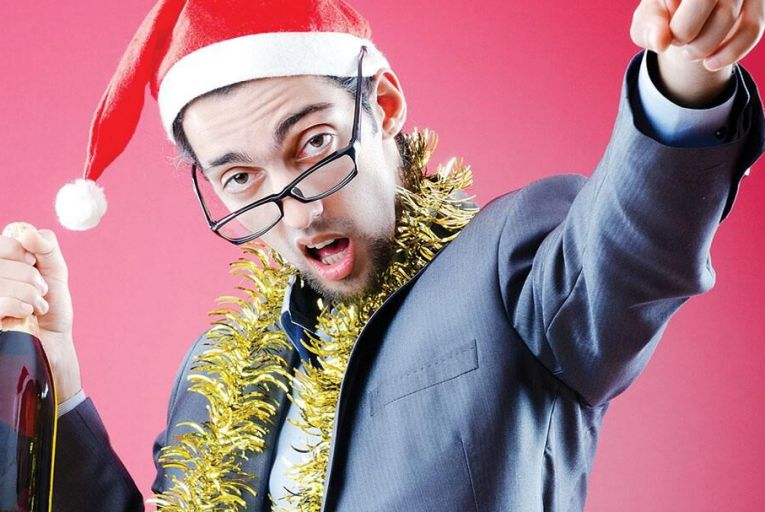 The Christmas party plan: arrive late, have one expensive drink, leave early