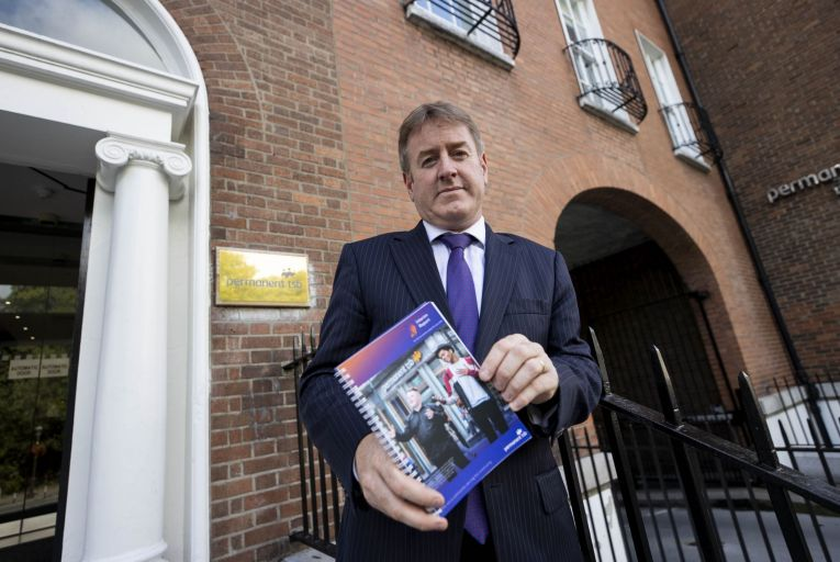 Eamonn Crowley, chief executive at Permanent TSB, was keen to reiterate just how important the proposed acquisition is. Picture Andres Poveda