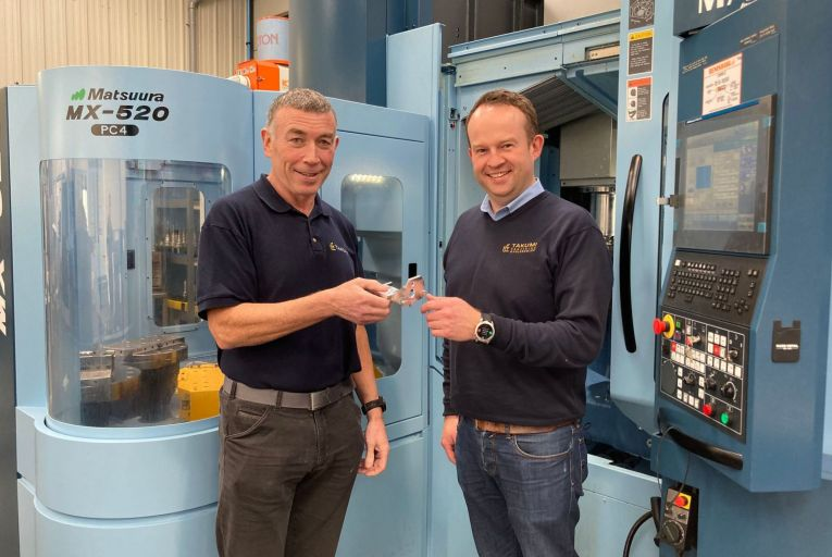 Gerry Reynolds, managing director, and Donal Galligan, chief executive, at Takumi which designs and makes medical, aerospace and general engineering devices