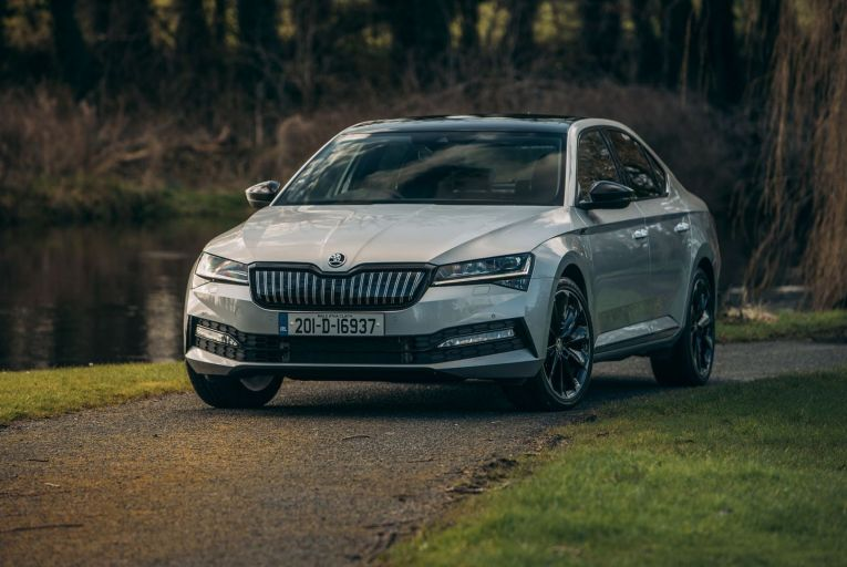 The Škoda Superb iV costs nearly €40,000 at the entry-level. Photo: Paddy McGrath