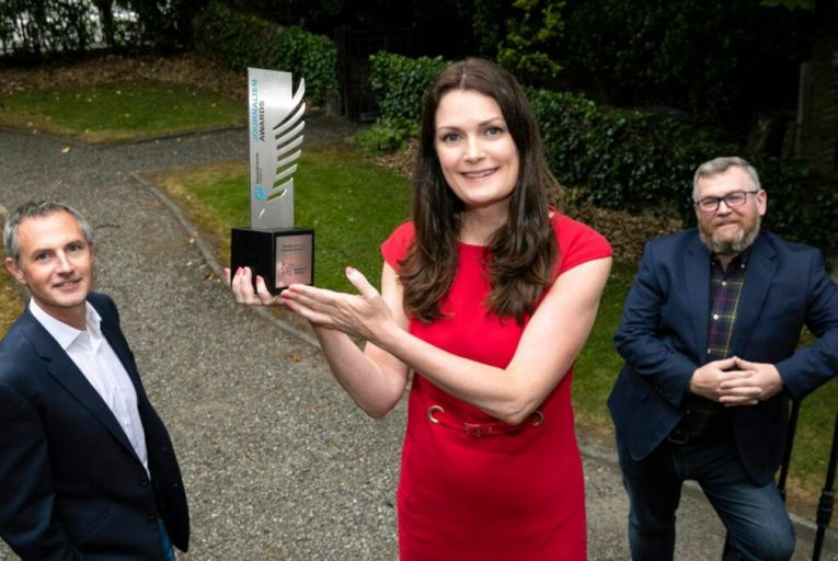 Ann Marie Lenihan, NewsBrands Ireland chief executive, Paul Dervan, National Lottery chief marketing officer and Colm O'Reilly, chairman of NewsBrands Ireland, at the launch of this year's awards. Picture: Fennell Photography