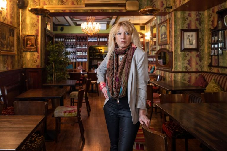 Gina Murphy, owner of Hugo's Restaurant on Merrion Row: 'I was sad that my beautiful little restaurant, which normally gets a massive amount of TLC on a daily basis, isn't getting any' Fergal Phillips