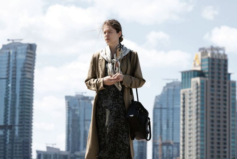 Burcu Biricik gives a stellar performance as a downtrodden cleaner bereft at the disappearance of her husband in Fatma