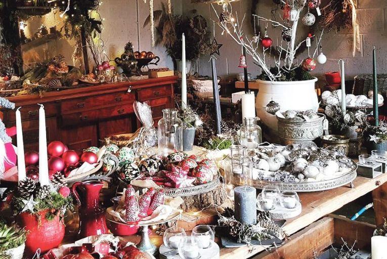 The seasonal pop-up shop at Lennie Wall's Wallflower studio