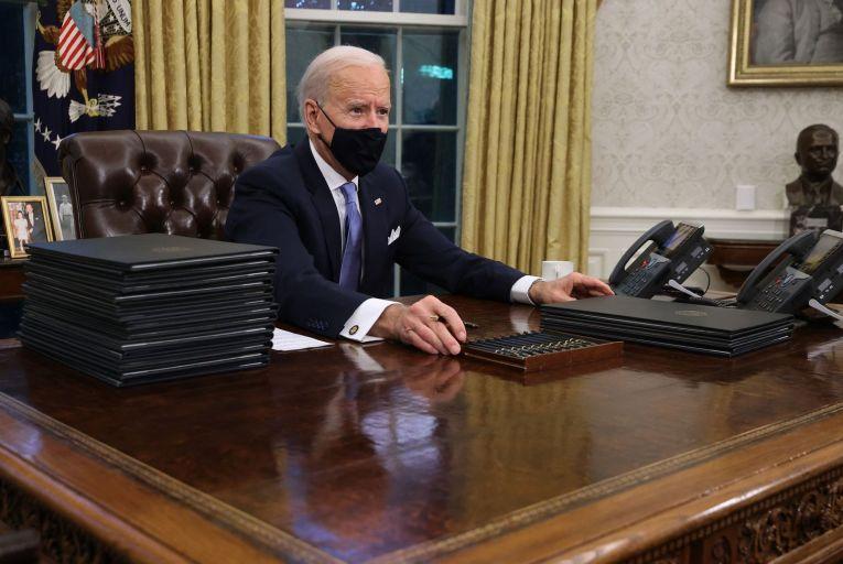 Joe Biden began his tenure on Wednesday