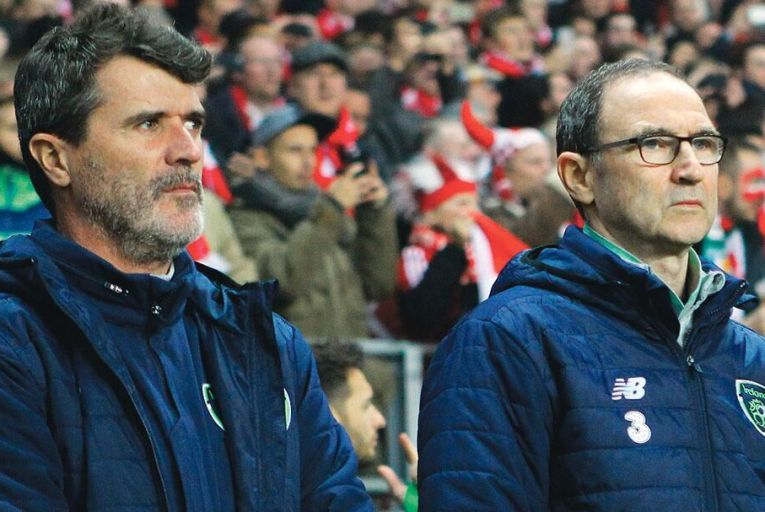 Roy Keane and Martin O'Neill in Copenhagen in November: it is debatable how much public appetite there is for another two years of their tenure Pic: Getty