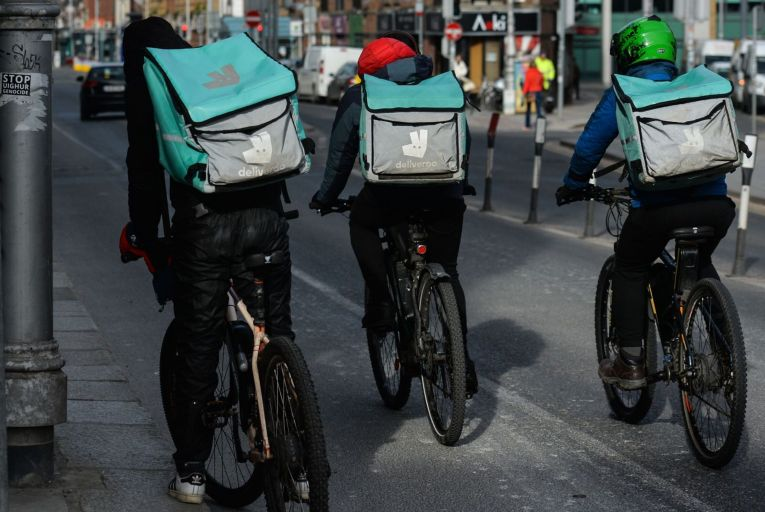 Some Deliveroo riders have stopped delivering for Aldi because of the weights they are asked to transport