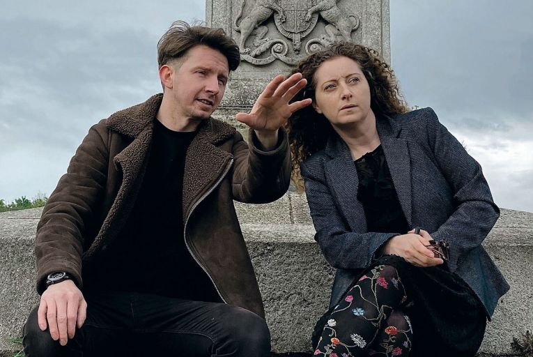 Matthew O\'Brien and Melissa Nolan in Michael James Ford's play Bloody Phoenix