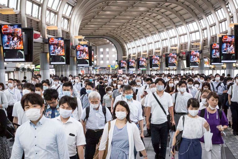 While images of face-masked crowds during the pandemic can make us believe the world is coming to an end, science shows that things are not always as bad as we think. Picture: Getty