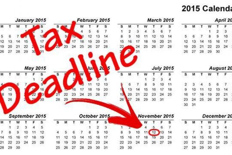 Tax Deadline is looming