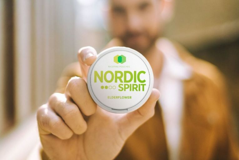 The pouches are sold under the brand name Nordic Spirit. Nicotine is absorbed into the bloodstream by placing a pouch between the upper lip and gum