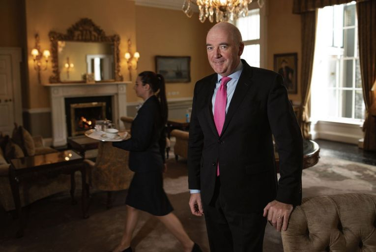 Peter McCann, general manager of the Merrion Hotel: 'I have no doubt, from our experience of the crash 12 years ago, that the first market that comes back is the high-end market' Picture: Fergal Phillips