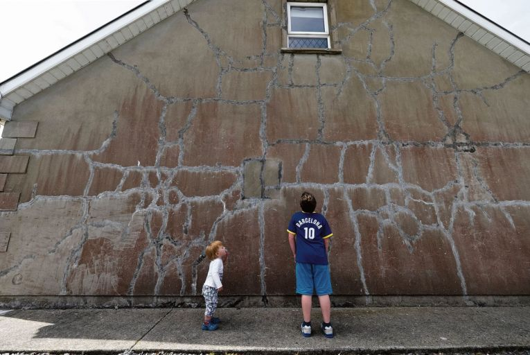 The Long family built their home on Inch Island, Co Donegal, in 2006, and are  one of thousands affected by the mica issue. Picture: Joe Dunne