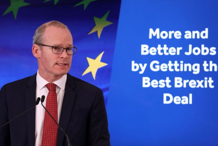 "Simon Coveney said he was still hopeful that a deal can be reached, but added that the talks would be in ""real trouble"" if no clear progress is seen by tonight"