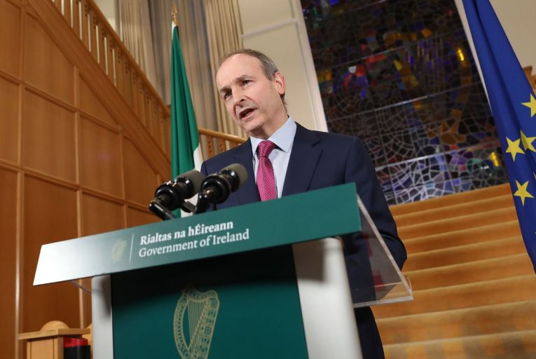 "Taoiseach Micheál Martin acknowledged people are ""completely fed up with the impositions"" on their lives and ""businesses and workers are deeply worried about the future"". Picture: Julien Behal"