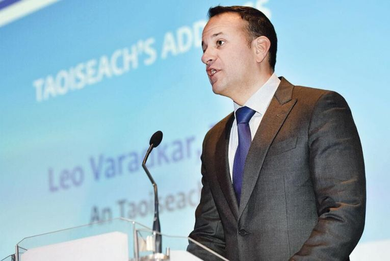 Taoiseach Leo Varadkar  addressed the Construction Industry  Federation conference last week All pictures: Maura Hickey