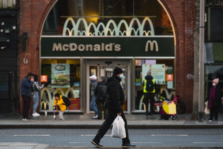 "McDonald's blamed the fall in revenue on ""the timing of transferring three company-operated stores to franchisees during the previous year"""