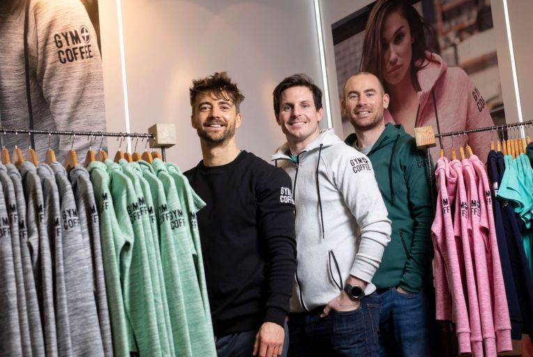 Karl Swaine, Niall Horgan and Diarmuid McSweeney, co-founders of Gym + Coffee: the company invested in systems for click and collect but cannot use them now. Picture: Fergal Phillips