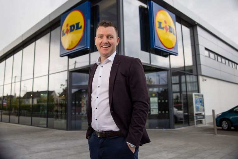 Kevin Duffy, director of property, construction and central services with Lidl: construction will start this week Pic: Fergal Phillips