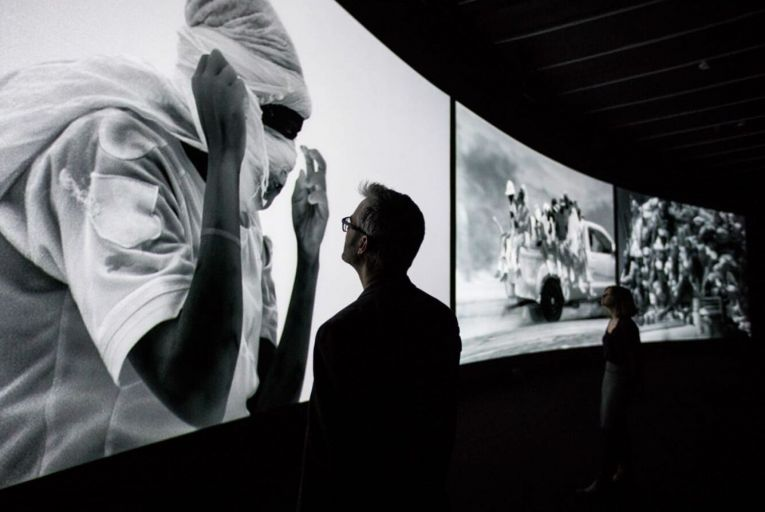 Incoming by Richard Mosse: 'Exhibition is a rather passive description, and the work is anything but passive'