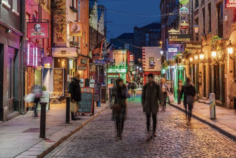 Temple Bar: businesses are fearful over reduced custom in pubs and restaurants