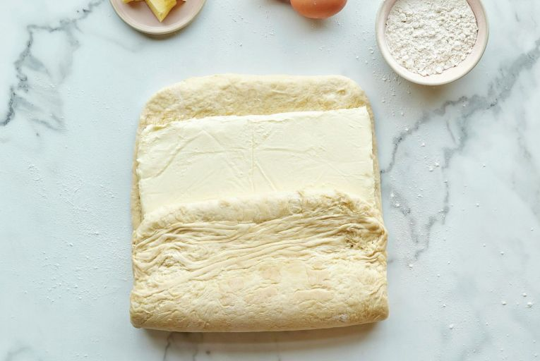 All-butter croissants in the making