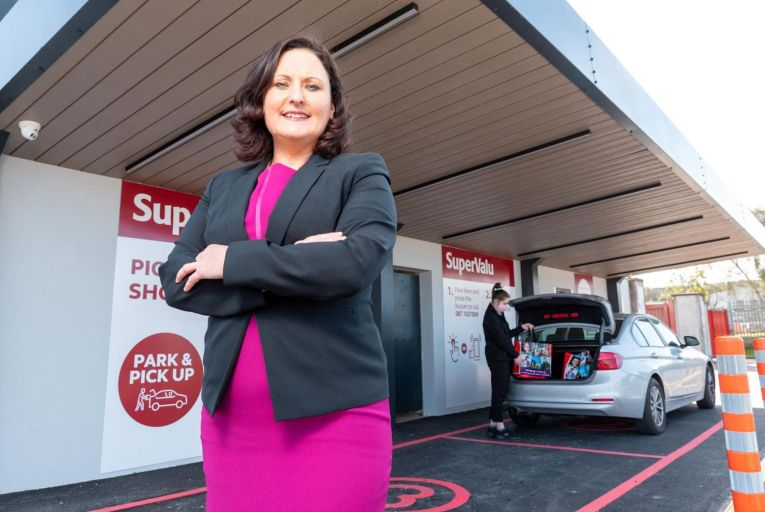 Edel Russell, director of innovation and insights at SuperValu, pictured at the new click-and-collect drive-through at Collins SuperValu Carrigaline in Cork. Picture: John Allen