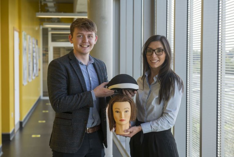 Barbara Oliveira and Aaron Hannon, co-founders of Luminate Medical: 'We are trying to prevent the chemotherapy from reaching the hair follicles and destroying them, but we do so without cold.' Picture: Andrew Downes