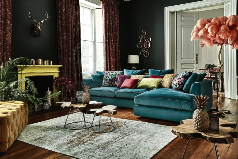 'A mix of new meets old and different design styles are interwoven. Sumptuous fabrics and quirky accessories set the tone of this maximalist trend' – David Casey