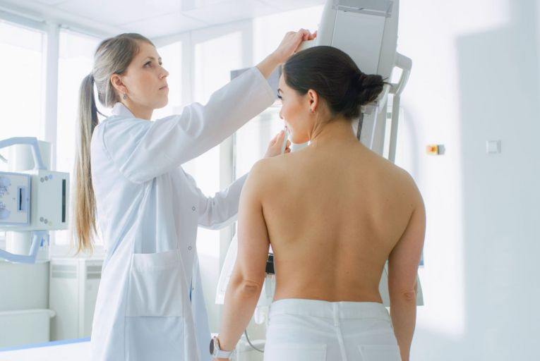 A patient undergoes a mammogram as part of breast cancer screening: the HSE plans to restart its BreastCheck programme which was paused in March