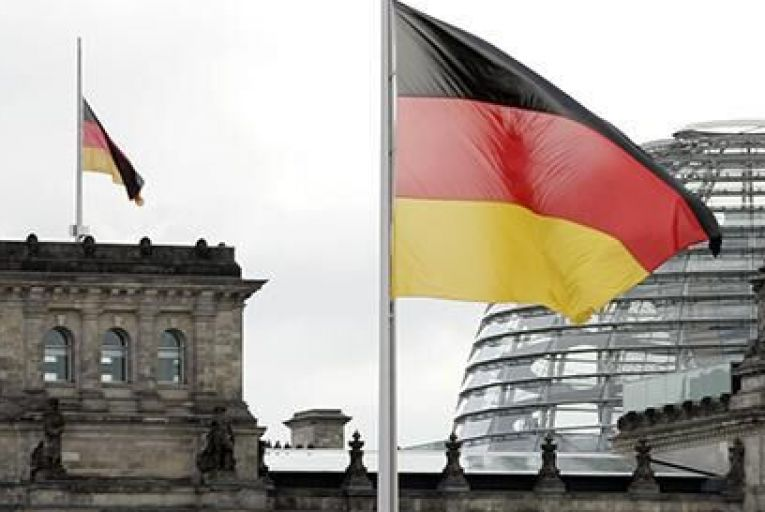 The German flag flies on the Reichstag building Pic: Getty