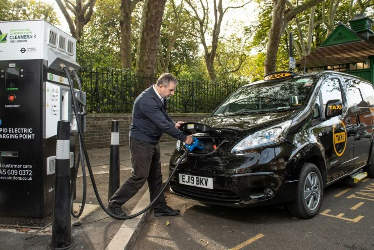 Electric taxis have been introduced in other cities, including London, where the first 100 per cent electric black cab was launched last year