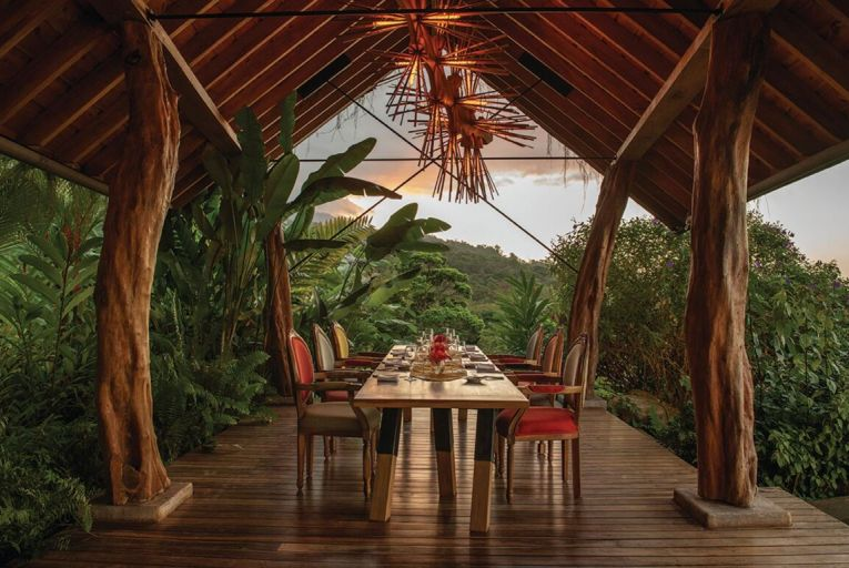 Origins Lodge in Costa Rica is ensconced in dense, lush jungle high above Lake Nicaragua