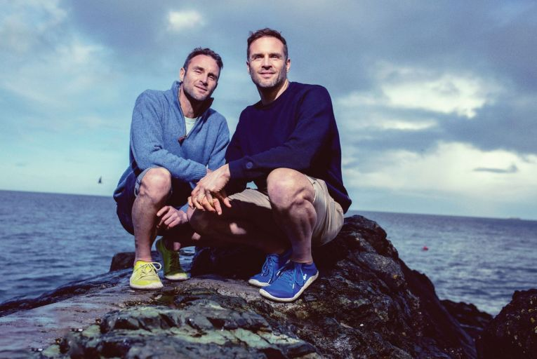 David and Stephen Flynn, owners of the Happy Pear, have a new book The Happy Health Plan. Picture: Marc O'Sullivan