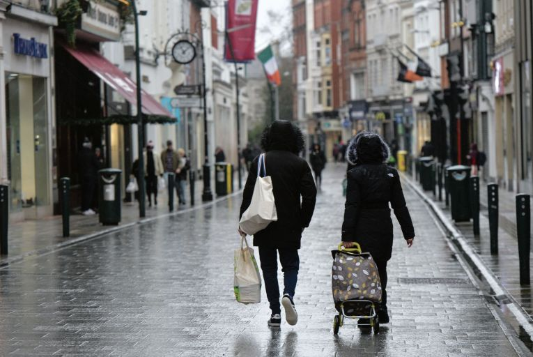 A quiet Grafton Street in Dublin: many businesses across the country forced to close by Covid may never reopen Picture: Getty