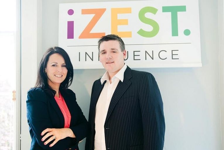 Jenny Taaffe and Alan McGovern, founders of iZest