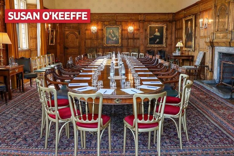 The Cabinet meeting room at Chequers. Pic: Getty