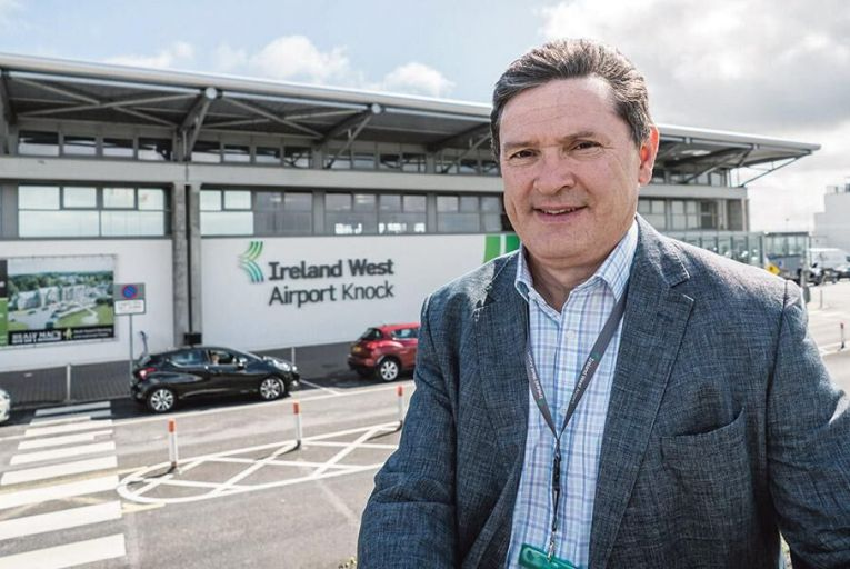 Joe Gilmore, chief executive of Ireland West Airport in Knock, Co Mayo Pic: Keith Heneghan