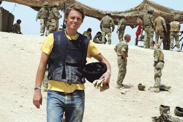 Mark de Rond, professor of organisational ethnography at Cambridge Judge Business School, pictured in Afghanistan