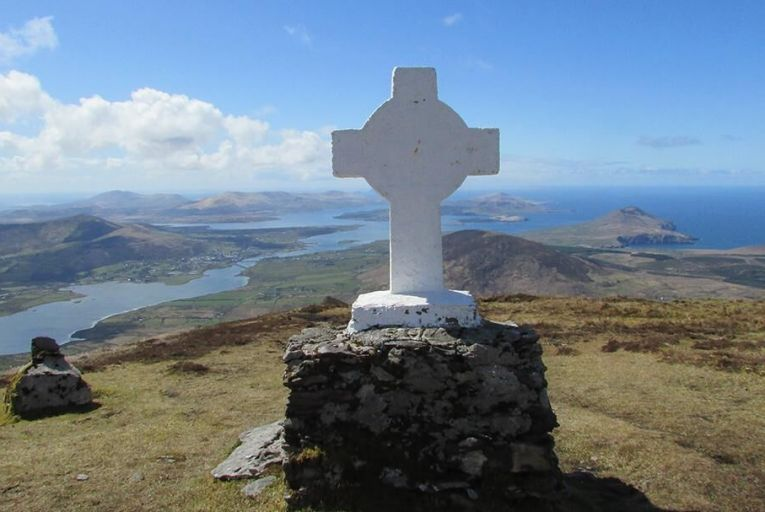 The summit of Cnoc na dTobar outside Caherciveen in Co Kerry